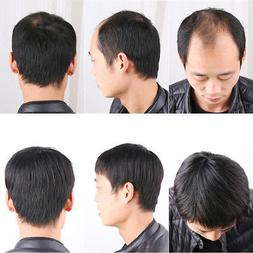 Men's Real Human Hair Topper Toupee Clip Hairpiece Lace Top