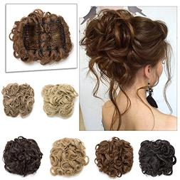 Elailite Messy Curly Combs Hair Bun Chignon Easy Stretch Hai