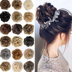 Messy Curly Fake Hair Bun Piece Extensions Hairpiece Hair Cl