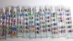 Mini Butterfly Hair Snap Clamp Clip Claw Pin Scallop Hair Ac