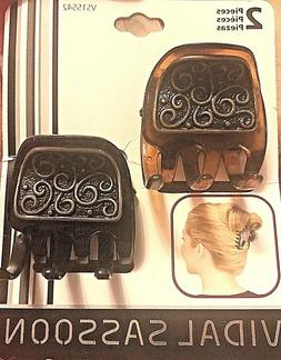 Mini Hair Clips with metal engraved design - Vidal Sassoon H