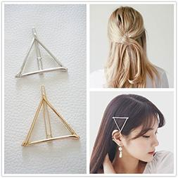 DierCosy Minimalist Dainty Gold Silver Hollow Triangle Geome