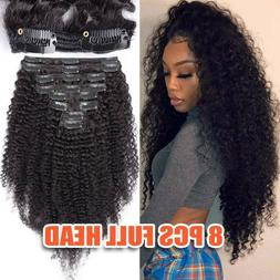 Mongolian Afro Kinky Curly Hair Clip In Human Hair Extension