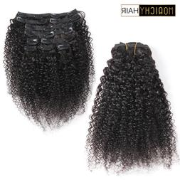 Morichy Mongolian Kinky Curly Weave Non-Remy <font><b>Clip</