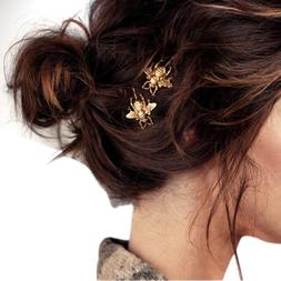 Mooistar #4022D 2PCS Style Girl Exquisite Gold Bee Hairpin S