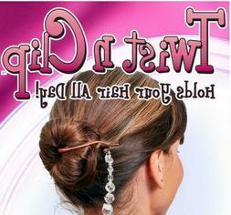 """TWIST N CLIP"" MULTIFUNCTIONAL MAGIC HAIR CLIPS SET OF 5 PCS"