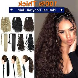 Natural Wrap Around Ponytail Hair Clip in Pony tail Hair Ext