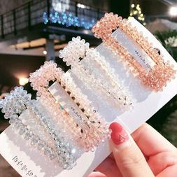 NEW Crystal Bead Hair Clip Hairband Comb Bobby Pin Barrette