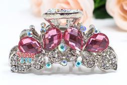new fashion women s butterfly rhinestones metal