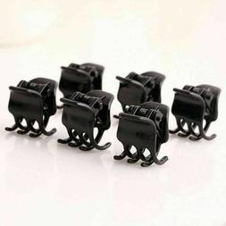 New Girls Black Plastic Mini Hairpin 6 Claws Hair Clip For L