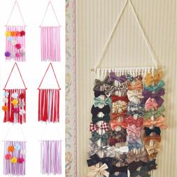 New Girls Kids Hair Bow Holder Hanger Hair Clips Storage Org