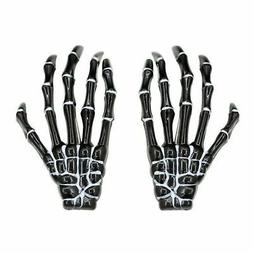 NEW Halloween Skeleton Hands Hair Clips Black 2 Each