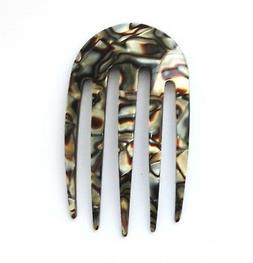 NEW Hand-Made Hair Comb Made In France Onyx Celluloid Tortoi