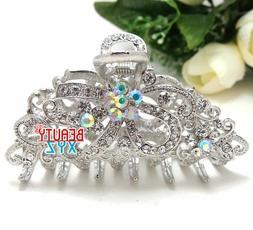 NEW Rhinestone Crystal Clip Hair Claw Hairpin Wedding Bridal