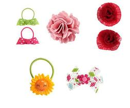 New U Pick Gymboree hair clips pony Butterfly Sunflower Smar