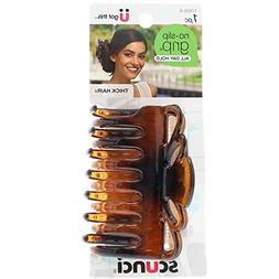 Scunci No Slip Crown Clip For Thick Hair Colors May Vary Pac