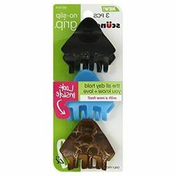 SCUNCI No-Slip Grip Jaw Clip Crackle to Hold Your Hair All D