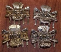 NWOT Goody Gold Silver Metallic Mini Jaw Clips Set of 4