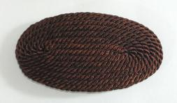 NWOT Revlon Nautical Weathered Brown Satin Cord Large Barret