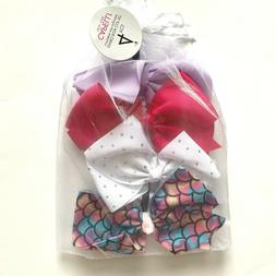 NWT! Capelli New York Girls 4 Pcs Jumbo Bow Clip Set w/ Orga