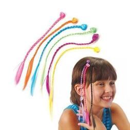 nylon clip on color artificia hair braid