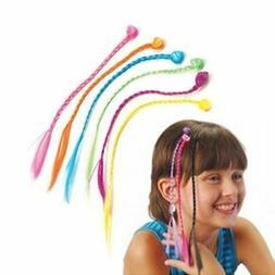 Nylon Clip-On Color Artificia Hair Braid Extensions Clip-In