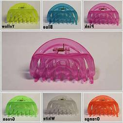 Oval Hair Clips Neon Color Large 4 inch Jaw Clamp Accessory
