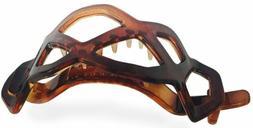 Parcelona Honey Comb Tortoise Shell No Metal Ponytail Holder