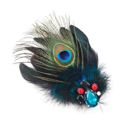 Peacock Feather Hair Clip and Brooch by Crystalmood