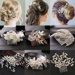 pearl flower crystal hair pins clips bridesmaid