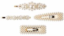 Pearl Hair Clips,Rhinestone Hair Clip Barrettes for Women Gi