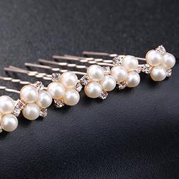 6 pieces Pearls Hair Pins for Wedding Hair Style Bridal Hair