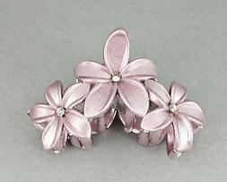 Pink sparkly hair clip claw butterfly clamp flower floral pl