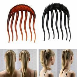ponytail inserts hair clip bun bouffant volume