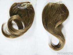 Premium Quality, Straight Human Hair 8 In by 3in Clip on Ext