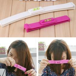 Professional Bangs Cutting Hair Clip Hairstyle Trim Ruler Tr