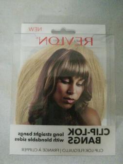Revlon Ready-to-Wear Hair-Clip-Lok Bangs-Dk Blonde-FREE SHIP