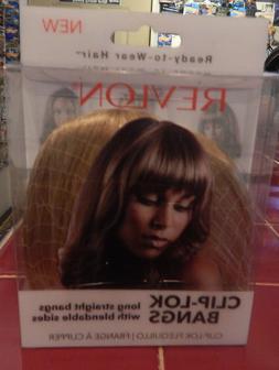 Revlon Ready-to-Wear Hair-Clip-Lok BangsDk Blonde-FREE SHIPP