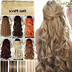 Real Long Clip In Hair Extensions THICK 3/4 Full Head Hair E