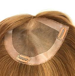 Real Straight Natural Human Hair Monofilament Bondable Clip