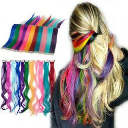Hair Extensions Natural human Hair Multi Color Clip In Hair