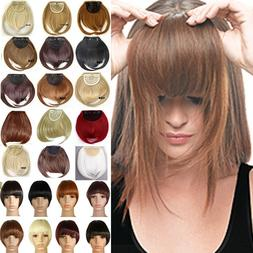 Real Natural Bangs Hair Peices Fringes Clip In Hair Extensio