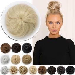 Real Natural Hair Bun Drawstring Hair piece Clip in Extensio