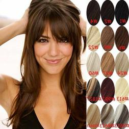 Real Natural Hair Extension Clip In Front Hair Bangs Fringe