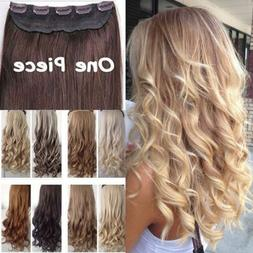 Real Thick 1pcs Clip in 3/4 Full Head Hair Extensions Extens