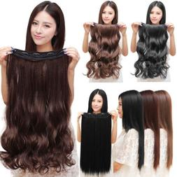 Real Thick One Piece Clip in Full Head Hair Extensions Exten