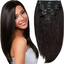 200g Real Triple Weft Extra Thick Clip in 100% Remy Human Ha