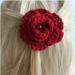 Red flower hair clip, Hat pin,  Liverpool F.C Man Utd Hull K