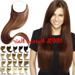Remy 100% REAL Human Hair Extensions Invisible Hidden Secret