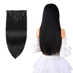 """20"""" Remy Clip in Hair Extensions Human Hair for Black Women"""